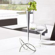Black-Blum-Flower-loop-Vase-Chrom-0-0