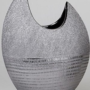 Formano-lgant-vase-plat-avec-silberstreifen-30-cm-0