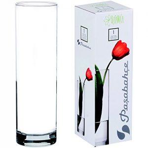 Promobo-Vase-Tendance-Forme-Ronde-Design-Cylindre-Aspect-265cm-0
