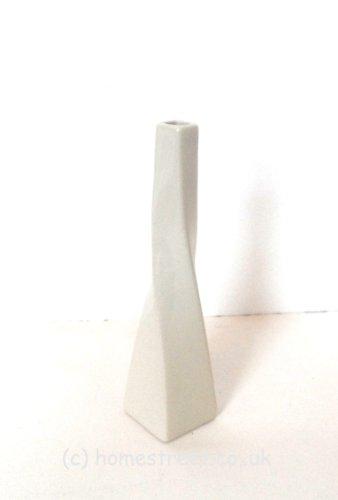 Vase-torsade-blanc-en-cramique-Dimensions-environ-25-cm–Idal-pour-fleurs-ide-cadeau-0