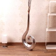 Grand-vase-CURLY-50-cm-argent-vase--fleurs-en-aluminium-0-0
