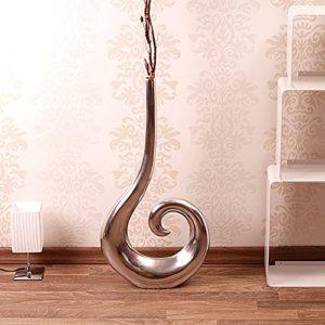 Grand-vase-CURLY-50-cm-argent-vase--fleurs-en-aluminium-0