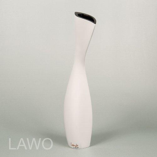 LAWO-109246-Laque-Design-Vase-IVAN-noir-blanc-Moderne-Deco-Vase–Fleurs-Exclusif-Bois-Vase-0