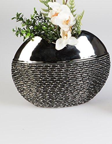 100-DCO-Vase–fleurs-BLACK-ROPE-en-CRAMIQUE-hauteur-de-26-cm-x-largeur-de-21-cm-0