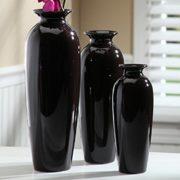 Hosleys-Elegant-Expressions-Set-of-3-Black-Ceramic-Vases-in-Gift-Box-Box-of-1-set-by-Hosley-0-0