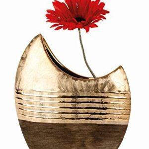 Moderne-Vase-dcoratif-Vase-en-cramique-dormarron-Hauteur-23cm-0