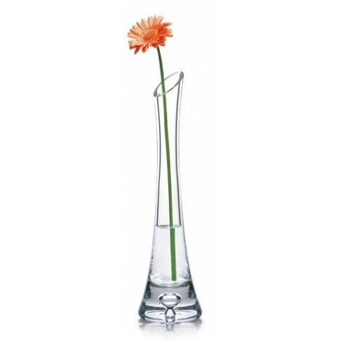 Soliflore-lgant-en-verre-transparent-fait–la-main-avec-base-lourde-20-cm-0