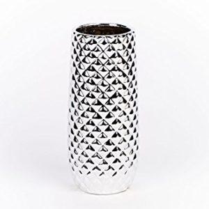 KONTARBOOR-Vase--Fleurs-Dcoratif-Strill-Argent-Modernedesign-en-cramique-Hauteur-20-cm-diamtre-9-cm-0