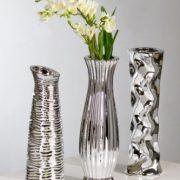 Dcoration-vase-diverso-3-pices-33-cm-argent-0