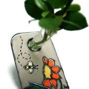 Vase-soliflore-avec-dcor-de-jardin-Soliflore-jaune-Vase-pour-une-fleur-Vase-bois-et-verre-Vase-design-0-0