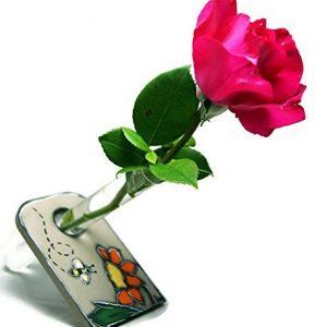 Vase-soliflore-avec-dcor-de-jardin-Soliflore-jaune-Vase-pour-une-fleur-Vase-bois-et-verre-Vase-design-0