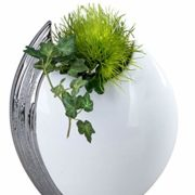 Exclusive-et-Moderne-Vase-dcoratif-tableau-vase-en-cramique-Edelweiss-22x26-cm-0