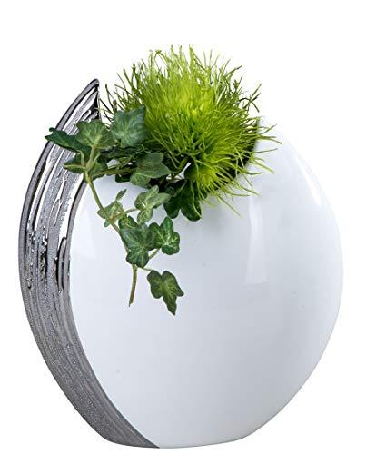 Exclusive-et-Moderne-Vase-dcoratif-tableau-vase-en-cramique-Edelweiss-22×26-cm-0