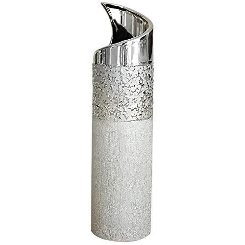 Vase-dco-moderne-vase–fleur-vase-en-cramique-champagne-argent-hauteur-40-cm-0