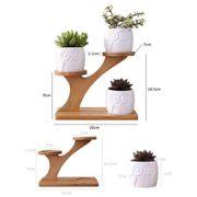 4-En-1-Lot-De-Vase-Pot-De-Fleurs-Simple-Cratif-Blanc-Plante-Succulente-En-Cramique-Motif-Bouteille-Treetop-Bambou-tagre-Planteur-Cratif-Ornement-Sans-Plante-pour-Dcoration-Home-Office-Salon-0-0