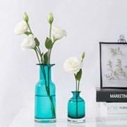 Mkouo-Lot-de-2-Vase-de-fleurs-Verre-Couleur-turquoise-0-0