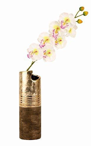 Moderne-Vase-dcoratif-Vase-en-cramique-dormarron-Hauteur-30cm-0