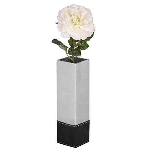 Wohnling-wl1674-Vase-dcoratif-Pot-L-Vase-Design-en-Aluminium-Vase-Table-Mtal-8-x-8-x-295-cm-Argent-0