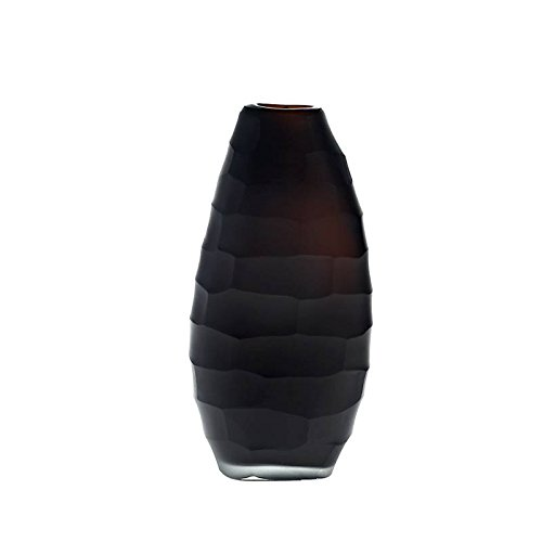 CRISTALICA-Design-Vase-en-verre-Deco-Vase-Collection-Moonlight-18-cm-brun-fait–la-main-verre-souffl-ART-GLASS-powered-0