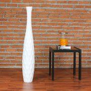 Leewadee-Grand-Vase-Dcoratif-90-cm-Bois-du-manguier-Blanc-0-0