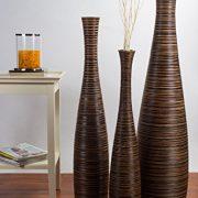 Leewadee-Vase-dcoratif-en-terre-et-bois-75cm-marron-0-0