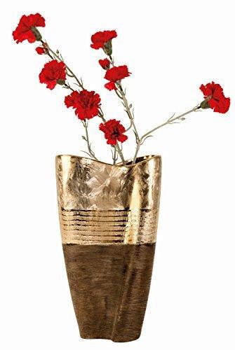 Moderne-et-grand-Fleur-Vase-dcoratif-Vase-en-cramique-dormarron-Hauteur-35cm-0