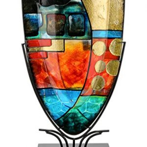 GILDE-GLAS-art-Nebra-Vase-Design-fabriqu--la-Main-en-Verre-Hauteur-57-cm-0