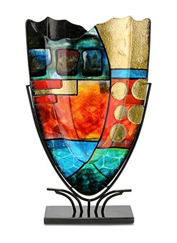 GILDE-GLAS-art-Nebra-Vase-Design-fabriqu–la-Main-en-Verre-Hauteur-57-cm-0
