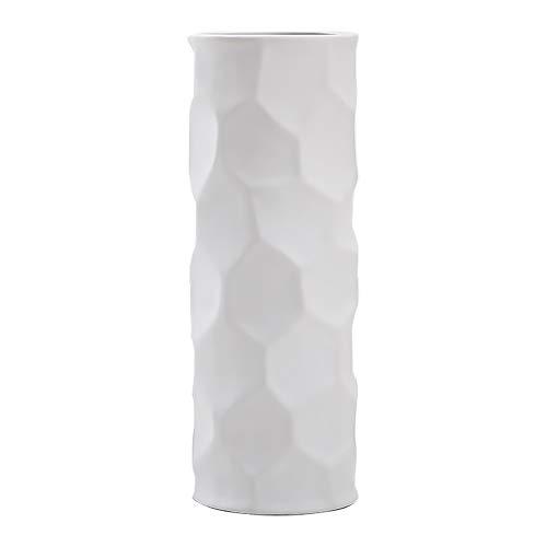 Hetoco-25cm-Vase-de-Fleur-Blanc-Cramique-vases-decoratifs-Design-Haut-pour-Maison-fte-Centre-de-Table-de-Mariage-0