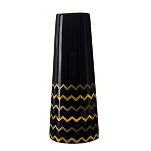 Hetoco-30cm-Vase-de-Fleur-Noir-Or-Cramique-vases-decoratifs-Design-Haut-pour-Maison-fte-Centre-de-Table-de-Mariage-0