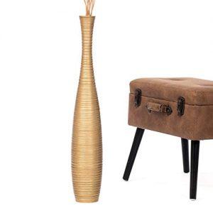 Leewadee-Grand-Vase-A-Poser-Au-Sol-pour-Branches-Dcoratives-Design-Vase-Haut-75-cm-Bois-de-Mangue-dor-0