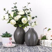 Vases--Fleurs-en-Cramique-Ensemble-de-2-Gris-coratif-Moderne-Fait-Main-pour-Salon-Cuisine-Table-Maison-Bureau-Mariage-Centre-de-Table-ou-Cadeau-15cm-14cm-0-0