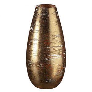 CRISTALICA-Vase--Fleurs-Vase-en-Verre-Vase-Dcoratif-DorTransparent-30-cm-0