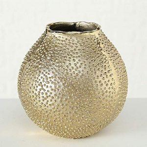 CasaJame-Maison-Dcoration-Accessoires-Ornement-Design-Vase--Fleur-en-Mtal-avec-Forme-dOursin-de-Mer-H1718cm-0